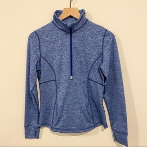 Lucy Half Zip Jacket Marled Blue Workout Top Yoga